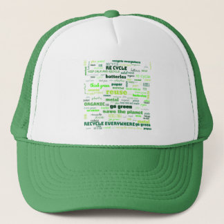 Reduce, Reuse, Recycle Word Cloud Trucker Hat
