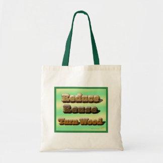 Reduce, Reuse, Turn Wood Woodturning Tote Bag