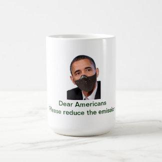 Reduce the Emission Basic White Mug
