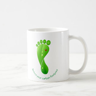 Reduce your carbon footprint green ecological coffee mug