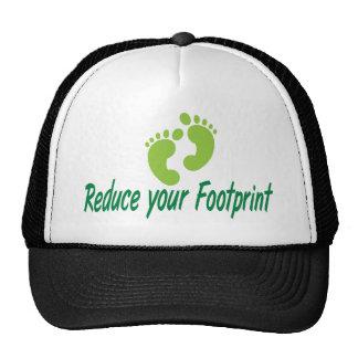 Reduce Your Footprint Mesh Hat