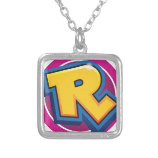 Reduced Break Logo Silver Plated Necklace