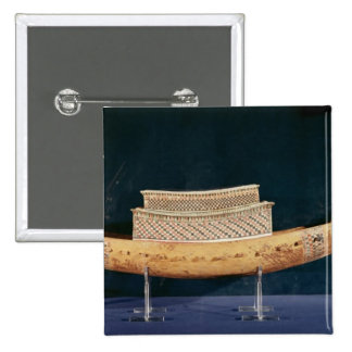 Reduced model of a boat from the Tomb 15 Cm Square Badge