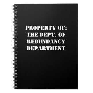 Redundancy Department Property Note Books