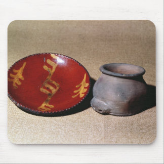 Redware cup and dish, c.1780 mouse pad