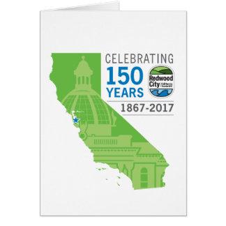 Redwood City 150th Anniversary Card