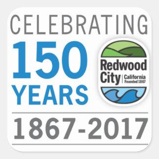 Redwood City 150th Anniversary Square Sticker
