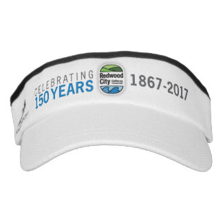 Redwood City 150th Anniversary Visor