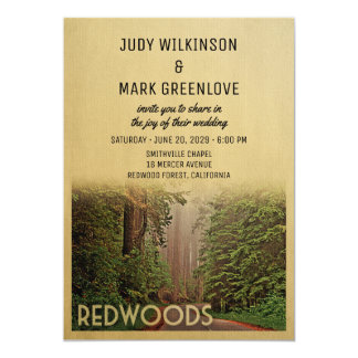 Redwood Forest Wedding Invitation Humboldt County