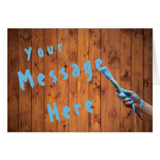 Redwood Generic Message Hand Painting Blue Text Card