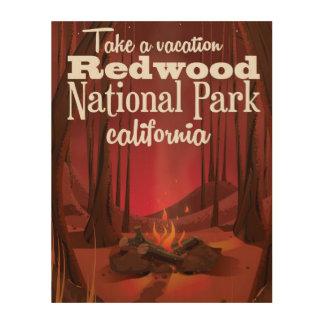 Redwood National Park, California travel poster