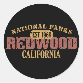 Redwood National Park Round Sticker