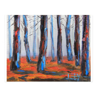 Redwood Original Painting, California Trees Postcard