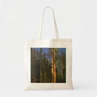 Redwood Trees by Albert Bierstadt Tote Bag