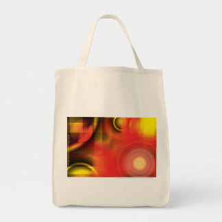 RedYellow Abstract Grocery Tote Bag
