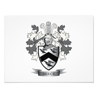 Reece Family Crest Coat of Arms Photograph