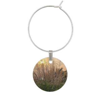 Reed At Sunset Wine Glass Charm
