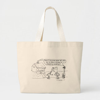 Reed Kissing Brass Large Tote Bag