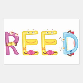 Reed Sticker