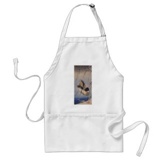 Reeds in the Snow with a Wild Duck by Hiroshige Standard Apron