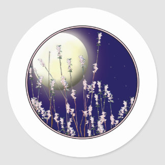 Reeds of Flowers Classic Round Sticker