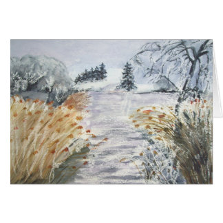 Reeds On The Riverbank No.2 From Watercolour Card