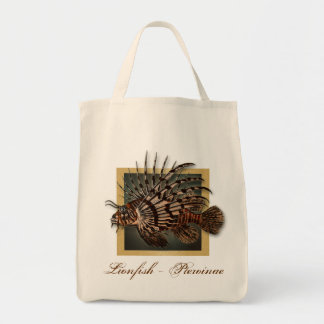 Reef coral fish fishing gifts for men grocery tote bag