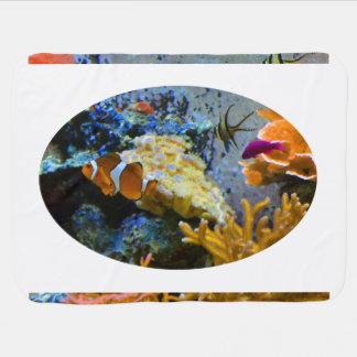 reef fish coral ocean baby blanket