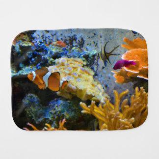 reef fish coral ocean baby burp cloths