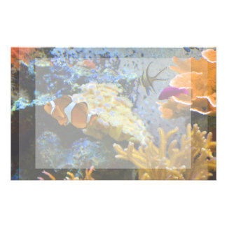 reef fish coral ocean customised stationery