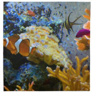reef fish coral ocean napkin