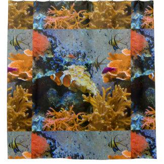 reef fish coral ocean shower curtain
