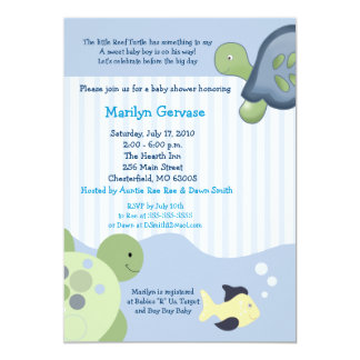 REEF TURTLE 5x7 Baby Shower Invitation
