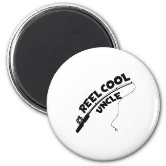 Reel cool uncle fishing tshirt magnet