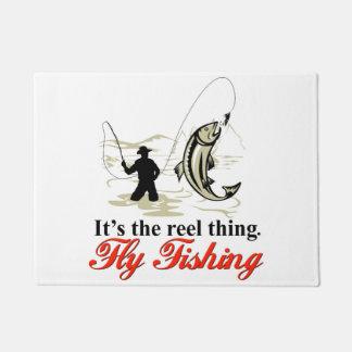 Reel Fly Fishing Door Mat