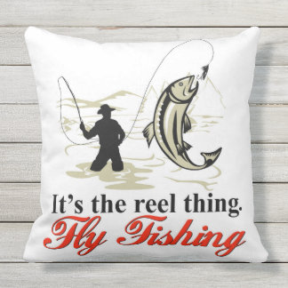 Reel Fly Fishing Pillow