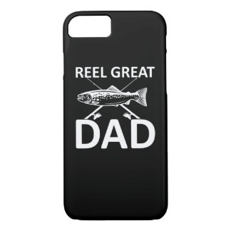 Reel Great Dad Cute Fishing Dad Saying iPhone 8/7 Case