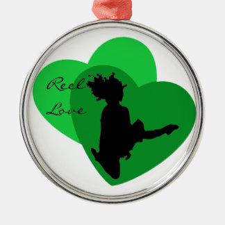 Reel Love - Irish Dance Metal Ornament