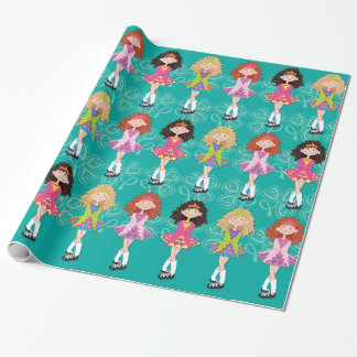 Reel Princesses glossy wrapping paper