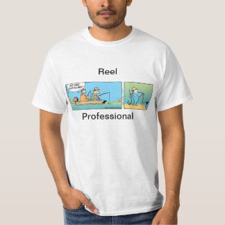 Reel Professional Fishing Joke Tshirt