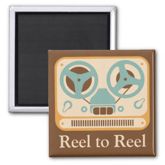 ❝Reel to Reel❞ Analog Tape Recorder Square Magnet