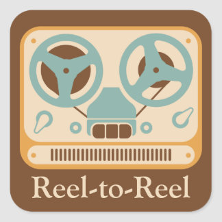 Reel to Reel Analog Tape Recorder Square Stickers