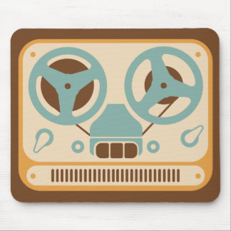 Reel to Reel Analogue Tape Recorder Mouse Pad