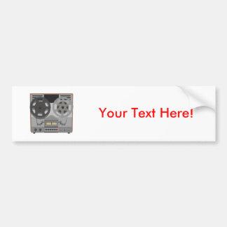 Reel to Reel Tape Player: 3D Model: Bumper Sticker