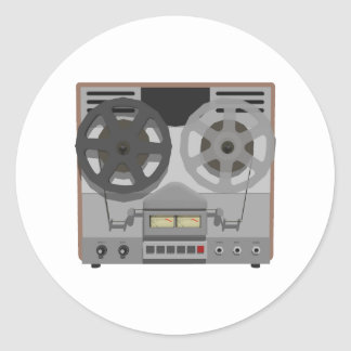 Reel to Reel Tape Player: 3D Model: Round Sticker