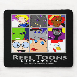 Reel Toons: Character Collage Mouse Pad