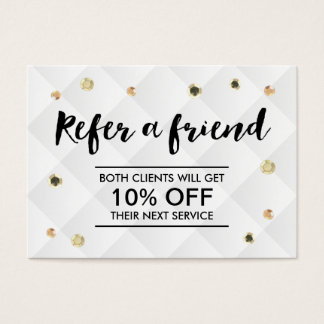 Refer a Friend Modern Gold Sequins Promotional