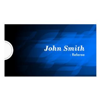 Referee - Modern Dark Blue Business Card Templates
