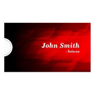 Referee - Modern Dark Red Business Card Templates