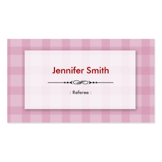 Referee - Pretty Pink Squares Business Card